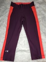 Under Armour Women's Heatgear Armour Jacquard leggings Sz Medium Purple NWT