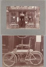 Antique 1907 Yale American Motorcycle & Union Bicycle, Feindel Lowell Mass Store
