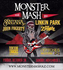 "SANTANA /LINKIN PARK /JOHN FOGERTY ""MONSTER MASH"" 2015 TEMPE CONCERT TOUR POSTER"