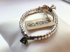 NWT Uno de 50 Silver-Plated Bracelet w/ Green Swarovski Crystal Bracelet $145