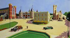 Robert ROQUIN(XX)gouache 1934 Maquette pour Diorama publicité art deco pub