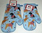 """PATRIOTIC OVENMITTS 10"""" Set of 2 PATRIOTIC DOGS"""
