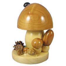 Wooden Natural Looking Mushroom Incense Burner Smoker Made In Germany