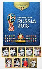 Panini World Cup 2018 Russia Deluxe Hardcover album + set 9 stickers Mc Donalds