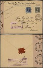 Luxembourg WWI 1916 - Cover Wecker to Vienna Austria - Censor