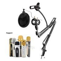 Broadcast Studio Suspension Boom Scissor Arm Microphone Mic +Shock Stand Mount
