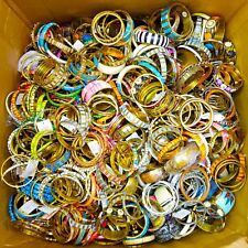 Mixed Lot Of Bangle Sets 50 Pcs Metal Wood Bone