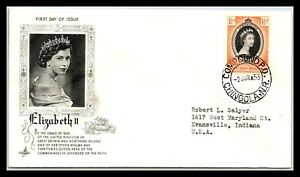 GP GOLDPATH: NORTHERN RHODESIA COVER 1953 FIRST DAY OF ISSUE _CV746_P05