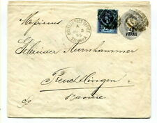 """Br. Levant 1895 """"40 PARAS"""" envelope uprated 40 Paras Constantinople to Germany"""