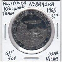 Token - Alliance, NE - 1963 Diamond Jubilee - Train - G/F 50 Cents- 33 MM Nickel