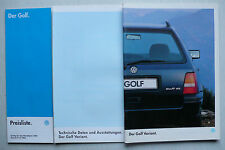 Prospekt Volkswagen VW Golf III Variant, 1.1995, 52 S.+Daten/Ausst.+Preisliste