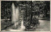 Postkarte PK AK Bad Elster Sachsen Der Kurpark Fotografie sw gelaufen 1928 antik