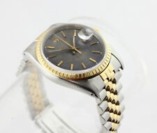 ROLEX DATE STAINLESS STEEL YELLOW GOLD BOX PAPERS JUBILEE BRACELET NO RES!