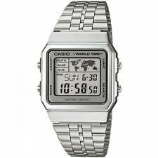 Casio A500WA-7 Classic Silver World Time Unisex Retro Digital Watch RRP 99.95