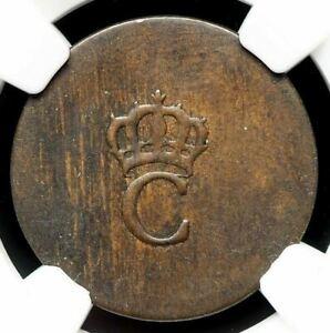 FRANCE, Colonies. Copper Stampee (1779), Vlack 375, NGC AU55 BN