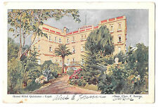 Italy Capri Grand Hotel Quisisana Vntg Alfieri Lacroix UND Postcard Serena Prop
