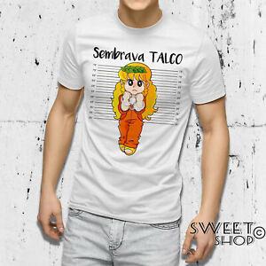 T-shirt maglietta POLLON SEMBRAVA TALCO IDEA REGALO DIVERTENTE NATALE COMPLEANNO