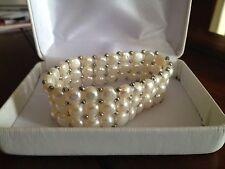 Genuine Fresh Water Pearl Flexible Size Bracelet