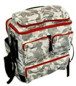 FIFTY/50 Pro Tours Backpack Bag Snow Arctic Camo Red 50/50 Valo Razors USD Roces