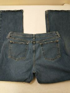 Old Navy Womens Jeans Size 18 Regular 36X31 Blue Denim Boot Cut Stretch Mid Rise