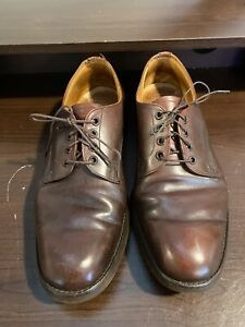 BROOKS BROTHERS ENGLISH MENS BROWN LEATHER LACE UP OXFORDS SIZE 8.5 M.