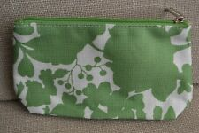 Limited edition Clinique green pattern fabric zipped cosmetic bag 19 x 12cm