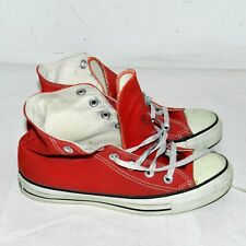 Wm's Vintage Made in Usa Converse All Star Chuck Taylor Red High Tops Shoes Sz 5