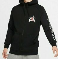 NWT NIKE Air Jordan Classics Jumpman Logo Full Zip Black Hoodie Men's Size 2XL