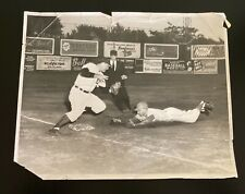 Vintage Buffalo Bisons Offermann Stadium Black & White Baseball Press Photo