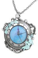 Disney The Little Mermaid Ariel Triton's Palace Nautilus Pocket Watch Necklace