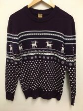 Oak Valley Mens Knitted Christmas Xmas Nordic Jumper Rhein Deer Size S