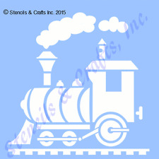 "5"" Train Stencil Trains Stencils Template Paint Art Pattern Clouds Craft New"