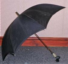 Vintage Navy Canopy Parasol By Paragon & Fox - Snake Skin Covered Handle -