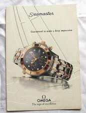 Omega Vintage 1992 Catalogue Seamaster Chrono Diver,Self Winding,Quartz, Rare