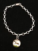 Sterling Silver Bracelet Horse Jockey Charm 6.6g