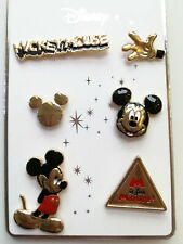 Mickey Mouse Pins Badges 6pk Disney Official BNWT
