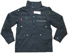 CRIMINAL DAMAGE Vintage Black Schwarz Star Militär Army Military Jacke g.M L XL