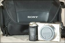 Sony E Mount A6000 24.3MP Digital Camera - Silver (Body Only) Low Clicks/Mint