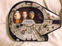 Star Wars: Millennium Falcon Pez Gift Tin. BB-8, Rey, Han Solo, Chewbacca.  NEW!