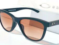 NEW* Oakley MOONLIGHTER Matte Black frame w Brown lens Womens Sunglass 9320-02