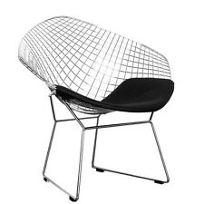 Harry Bertoia style Diamond Chair in different variations black white and chrome