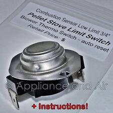 10037 Kozi Pellet Stove Circulation Fan Override Disk TDKLMT04 + Instructions