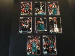 2000/01 Topps Charlotte Hornets Team Set 8 Cards with Rookie SP
