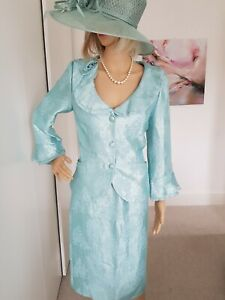 GINA BACCONI MOTHER OF THE BRIDE/GROOM SKIRT SUIT SIZE 10/12 EXCELLENT CONDITION