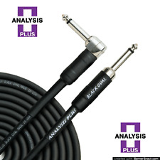 Analysis Plus 10ft Black Oval Guitar Cable with Straight/Angle Plugs
