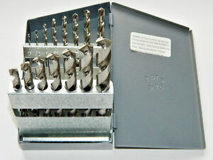 """15 Piece 1/16"""" to 1/2"""" by 32nds Jobber Solid Carbide Drill Set, MD C800SR"""