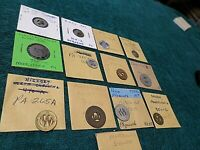 Collection 13 Old Antique Vintage Transportation Tokens of Pennsylvania