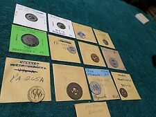 New listing Collection 13 Old Antique Vintage Transportation Tokens of Pennsylvania