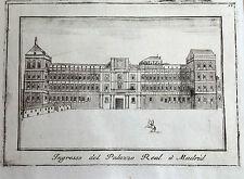 MADRID , Alcazar, Coronelli , grabado original, c.a .1710