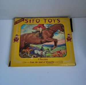 Sifo Toys 4 Puzzles From The Land Of Hiawatha 3z5 Working Animals 24-36pc